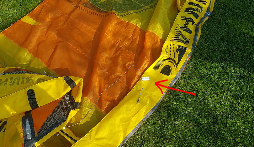 how to attach a flag label, step 18